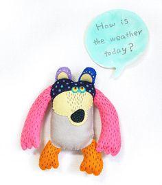 Etsy の bear-animal friend,art doll by KimikaHara Mine! Mine! Mine!