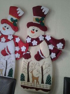 Best 12 David Vacca's media content and analytics Christmas Clay, Felt Christmas Ornaments, Christmas Sewing, Christmas Embroidery, Christmas Images, Christmas Snowman, Christmas Stockings, Christmas Crafts, Snowman Crafts
