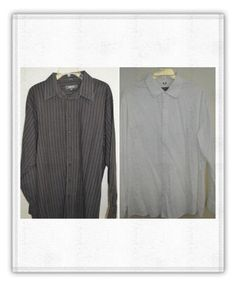 Lot 2 Men's size XL 17 Kenneth Cole Reaction Shirt Casual Long Sleeve White #KennethColeReaction