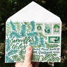 Hand Lettering Envelopes, Mail Art Envelopes, Handwritten Letters, Cursive, Pen Pal Letters, Letter Art, Letter Writing, Envelope Art, Envelope Design