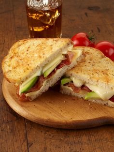 Crisp bacon, creamy avocado and melted cheese make this grilled cheese sandwich extra special.