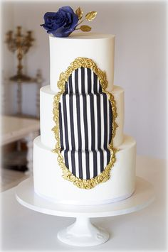 Striped Baroque Inset- SugarEd Productions Online Classes