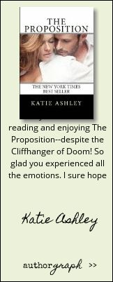 """Authorgraph from Katie Ashley for """"The Proposition"""""""