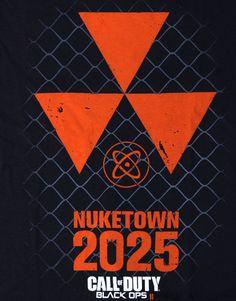 Call Of Duty Men's T Shirt Black Ops 2 Nuketown 2025 Radiation COD 2 Gamer Tee $15.00