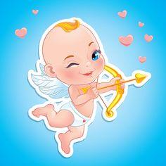 Милые ангелочки для распечатки к 14 февраля (18 шт.) | Скрапинка…