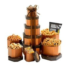 Broadway Basketeers Gift Tower of Sweets Gift Basket Perfect for Sympathy, Birthday, Housewarming, Retirement or Any Occasion - https://pets.boutiquecloset.com/product/broadway-basketeers-gift-tower-of-sweets-gift-basket-perfect-for-sympathy-birthday-housewarming-retirement-or-any-occasion/ Gift Certificates, Ideas, Certificate Design, Going Away Gifts, Company Gifts, Gift Logo, Diesel, Chocolate Truffles, Corporate Gifts
