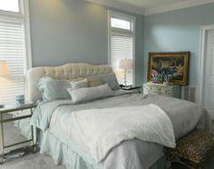 70 Ideas For Bedroom Paint Ideas Men Benjamin Moore Blue Bedroom Paint, Accent Wall Bedroom, Blue Bedrooms, Cabin Bedrooms, Glass Slipper Benjamin Moore, Benjamin Moore Bedroom, Bedroom Color Schemes, Bedroom Colors, Bedroom Decor