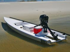 Solo Skiff is the one man micro-skiff for the shallow water fisherman. The Solo Skiff can best be described as a hybrid vessel, borrowing features from different types of shallow-water craft.