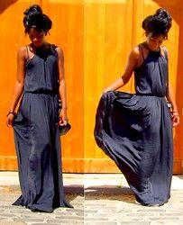 Zara Maxi Dress - #Black Dress - Genia G.