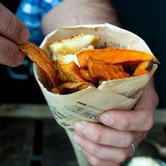 Sweet Potato Chips  Almond Crusted Fish