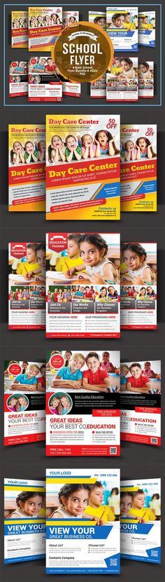 Child-Care-And-Drop-Off-Daycare-Flyer-Template | Design