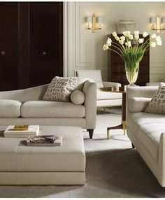 Living Room - Contemporary modern & luxurious is the design concept & styling of this space.  Sophisticated with excellent chosen elements.