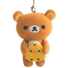 Rilakkuma mini-mini Cleaner Strap (Yellow Bird)