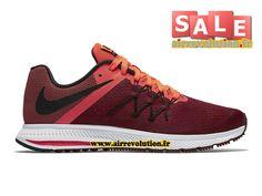 NIKE ZOOM WINFLO 3 - CHAUSSURE DE RUNNING NIKE PAS CHER POUR HOMME Nike/Rouge vaurien/Hyper orange/Noir 831561-600
