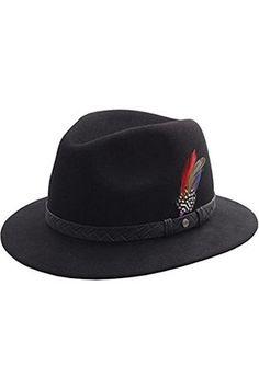 Hombre Sombreros - Stetson Sombrero fedora hombre Hillsdale Woolfelt -  talla L Sombrero Fedora Hombre 1f1fb0affea