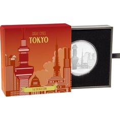 Great Cities Collection - Tokyo Silver Coin by NZ Mint Tokyo Skytree, Proof Coins, Coin Collecting, Silver Coins, Cities, Collection, Silver Quarters, City