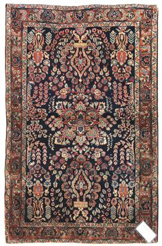 Antique Sarouk Rugs Gallery: Antique Sarouk Rug, Hand-knotted in Persia; size: 3 feet 4 inch(es) x 4 feet 10 inch(es) Eclectic Books, Dark Green Walls, Magic Carpet, Traditional Rugs, Tribal Rug, Persian Rug, Textile Art, Rugs On Carpet, Decorative Accessories