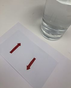 Light Refraction Experiment with arrows and water