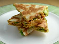 I have eaten a lot of different quesadillas and now I have found a new filling worthy of the top list! avocado, shredded chicken and bbq sauce! Barbecue Sauce, Bbq, Quesadilla Recipes, Shredded Chicken, Chorizo, Grilled Chicken, Cheddar Cheese, Top List, Grilling