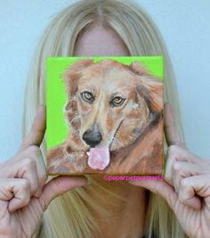 Meet Ashley, a beautiful Golden Retriever check out her Dog Portrait by PopArtPetPortraits on Etsy, $65.00