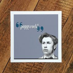 Funny Greetings Card Poppycock by CoulsonMacleod on Etsy, £2.50