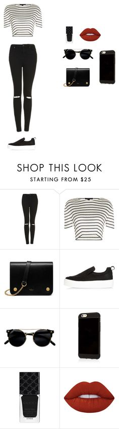 """2к16"" by serobabova on Polyvore featuring мода, Topshop, Alexander Wang, Mulberry, River Island, Gucci и Lime Crime"
