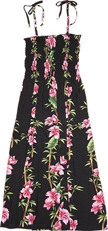 Bamboo Plumeria Ladies Hawaiian Dresses  Womens Hawaiian Dress  Aloha Dress  Hawaiian Clothing  100 Rayon Black Medium >>> Read more  at the image link.