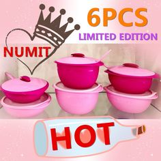 Check out TUPPERWARE LEVEL Full Set 6 pcs PINK Insulated Serveware for $149.00. Get it on Shopee now! https://shopee.com.my/numitonlinestoremalaysia/341520305 #ShopeeMY