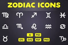 Glyph Icon: Zodiac Icons by ChamIcon on @creativemarket