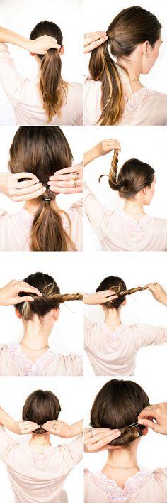 Love DIY wedding hairstyles. :)