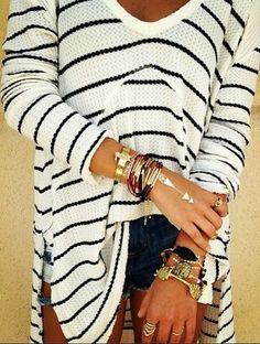 Loose Stripes Sweater