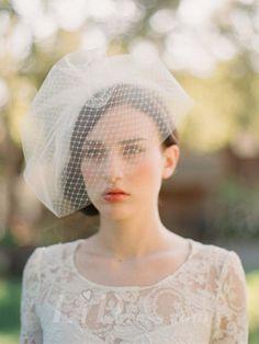Beautiful  Net Yar Wedding Tiara With Comb  - Bridal Veil