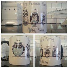 NEW  Personalized Owl Family Coffee Mug by OnDisplayGraphix, $12.00