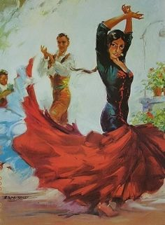 Spanish Flamenco dancers.