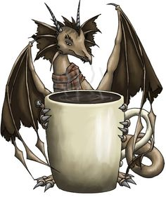 Coffee Dragon Types Of Dragons Cafe Me Art Quotes Fantasy