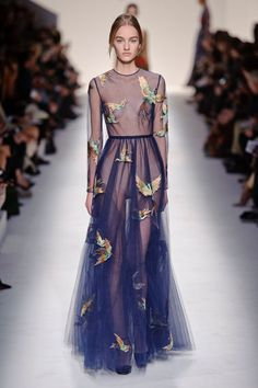 Valentino - #rtw fall/winter 2014. #subtle #sheer #fall #style