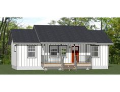 2 Bedroom House Plans, Ranch House Plans, Small House Plans, House Floor Plans, Pallet House Plans, 500 Sq Ft House, House 2, Farm House, Farmhouse Plans