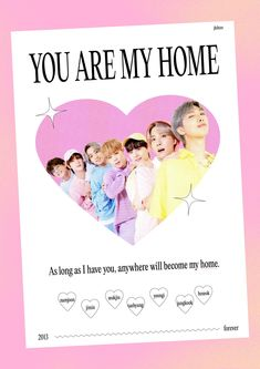 """jing⋆࿐໋₊ on Twitter: """"love you, my home 𓏔 #8YearsToInfinityWithBTS… """" New Poster, Poster Wall, Poster Prints, Wall Prints, Art Print, Graphic Design Posters, Graphic Design Inspiration, Room Inspiration, Lizzie Hearts"""