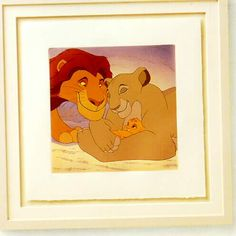 Walt Disney's The Lion King - Mufasa and Sarabi Limited Edition Framed Serigraph