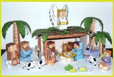 Bible Paper Toys :: Free Printable Paper Nativity Set