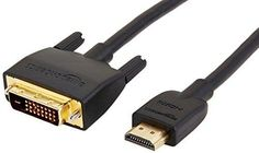 AmazonBasics HDMI Input to DVI Output Adapter Cable - 6 Feet (Latest Standard)