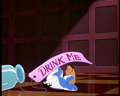 alice in wonderland drink me bottle | ... Alice pictures (screencaps) from Disney's Alice in Wonderland movie