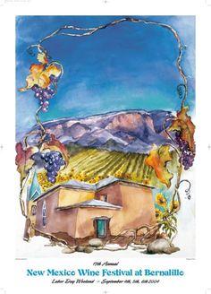 New Mexico Wine Festival commemorative posters Retrieved from newmexicowinefestival.com