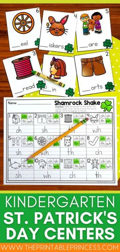Bring some luck of the Irish to your little kindergarten leprechauns with these great St. Patrick's Day read alouds and free printables targeting graphing, number work, word work, CVC shamrock hunts and more!