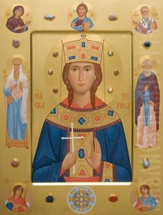 The icon painters of St Elisabeth Convent will paint a family icon of any kind. You can order an Orthodox family icon online from the Catalog of St Elisabeth Convent Orthodox Prayers, Sainte Cecile, Prayer Corner, Roman Church, Fact Families, Good Deeds, Orthodox Icons, The Guardian, Fresco