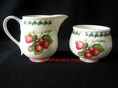 BEAUTIFUL POTTERY: Portmeirion Pomona Strawberry Fair