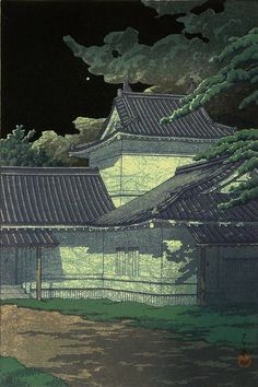 Aoba Castle in Sendai, by Kawase Hasui, 1933 -- See also at: http://collections.lacma.org/node/190204