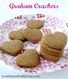 Stay up to date on my newest recipes by following Love to be in the Kitchen on Facebook or Pinterest! My #1 favorite thing about blogging is sharing amazing recipes with you! These Graham crackers are so easy and fun to make! You can cut it with any shape you'd like or cut it into... Read More » Baby Food Recipes, Sweet Recipes, Cookie Recipes, Snack Recipes, Dessert Recipes, Healthy Recipes, Pastry Recipes, Candy Recipes, Family Recipes