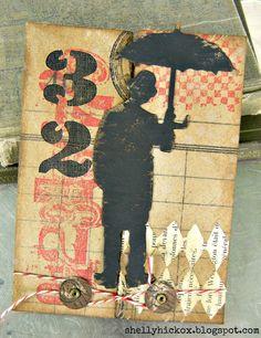gatefold card by Shelly Hickox
