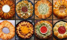 9 Mind-Blowing Food Party Rings - Find and Share Everyday Cooking Recipes Party Snacks, Appetizers For Party, Appetizer Recipes, Potluck Recipes, Party Games, Party Rings, Football Food, Ham And Cheese, Meatloaf Recipes